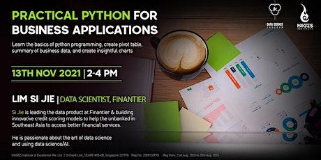 Practical Python for Business Enterprises tickets