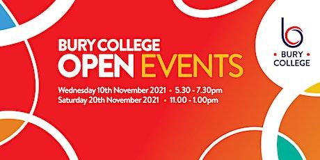 Bury College Open Event tickets
