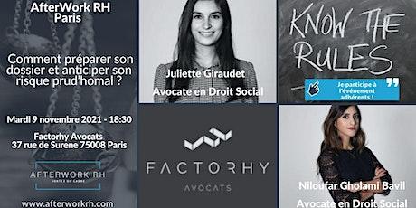 AfterWork RH Paris - Le risque Prud'homal, décryptage billets