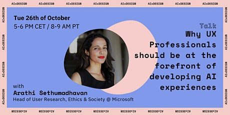 Keynote with Dr. Arathi Sethumadhavan by AIxDesign tickets