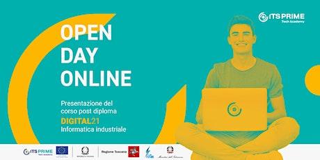 ITS Prime-Tech Academy: Open day corso DIGITAL21 biglietti