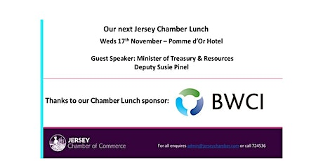 Jersey Chamber Lunch - November 2021, kindly sponsored by BWCI tickets
