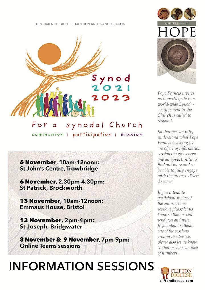Trowbridge - Synod Information Sessions image