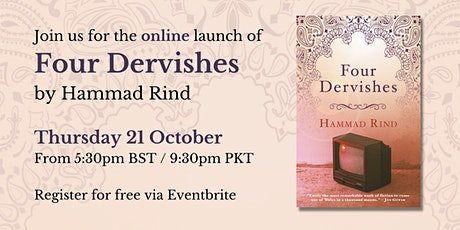 Online launch of Four Dervishes by Hammad Rind tickets