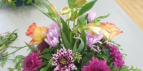 Flower Arranging for Beginners using Seasonal Flowers tickets