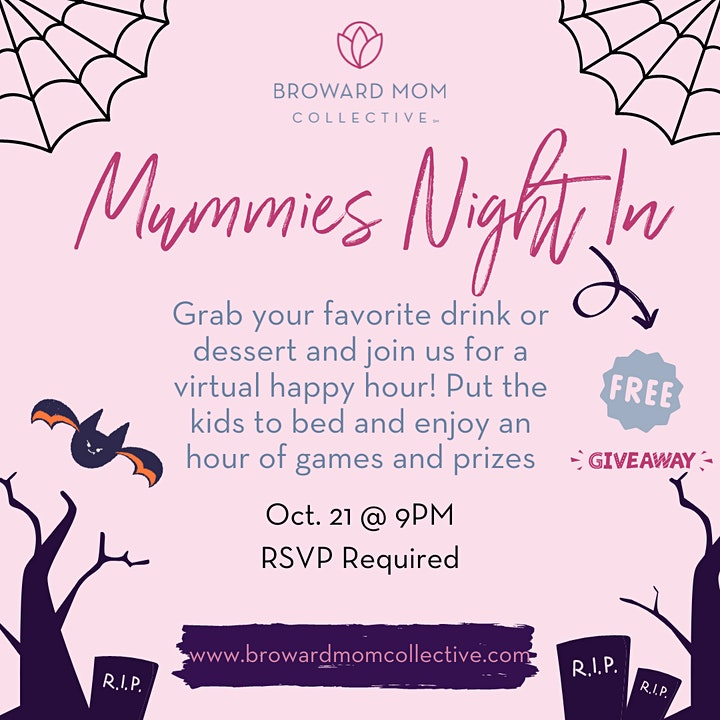 Moms Night In - Join our Virtual Happy Hour filled with Games & Prizes image