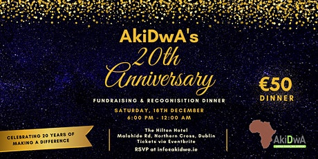 AkiDwA 20th Anniversary Fundraising and Recognition Dinner tickets