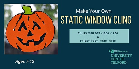 Static Stained Glass Window Clings Halloween Workshop tickets