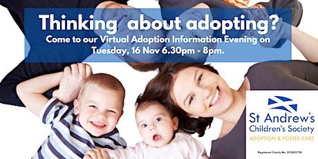 Virtual Adoption Information Evening - St Andrew's Children's Society tickets