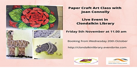 Paper Craft Art Class for adults with Joan Connolly tickets