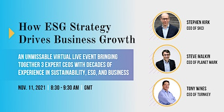 How ESG Strategy Drives Business Growth tickets