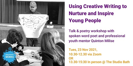 Using Creative Writing to Nurture and Inspire Young People tickets
