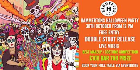 HALLOWEEN @ HAMMERTON BREWERY tickets
