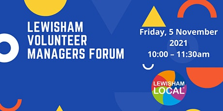 Lewisham Volunteer Managers Forum tickets