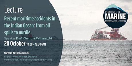 LECTURE: Recent maritime accidents in the Indian Ocean tickets