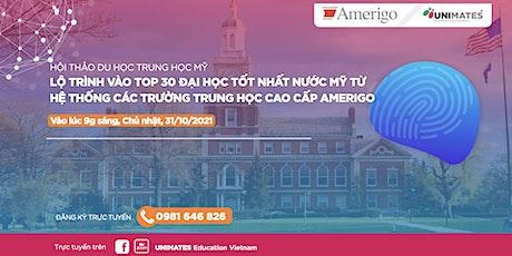 Lộ trình vào TOP30 Đại học Tốt nhất nước Mỹ từ các trường Trung học Amerigo tickets