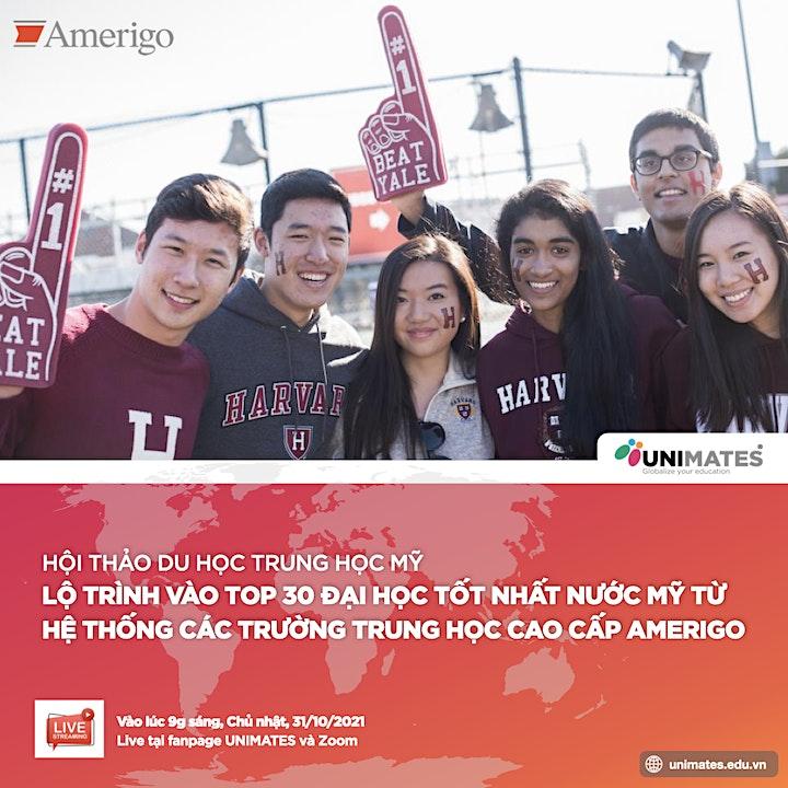 Lộ trình vào TOP30 Đại học Tốt nhất nước Mỹ từ các trường Trung học Amerigo image