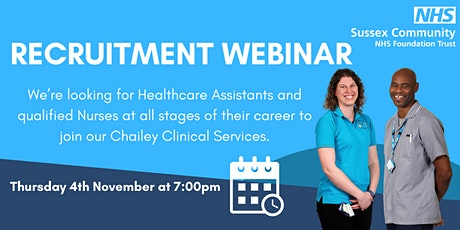 Recruitment webinar for  Staff Nurses and Healthcare Assistants tickets