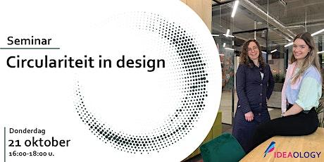 Circulariteit in Design tickets
