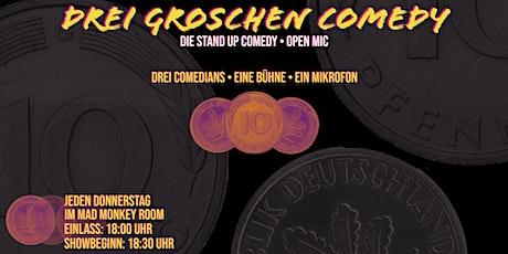 """Stand-up Comedy Live • P-Berg • 18:30 Uhr • """"Drei Groschen Comedy"""" Tickets"""