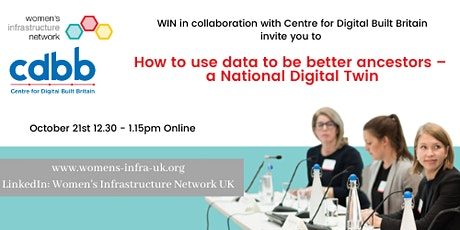 WIN UK: How to use data to be better ancestors – a National Digital Twin tickets