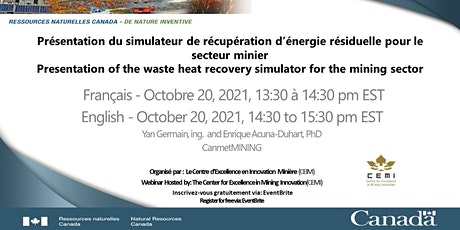 Presentation of the Waste Heat Recovery Simulator for the Mining Sector tickets