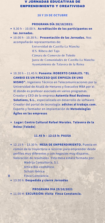 Imagen de V JORNADAS EDUCATIVAS DE EMPRENDIMIENTO Y CREATIVIDAD