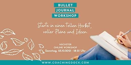 Bulletjournaling mit starker Coachingkomponente · wir planen für November Tickets