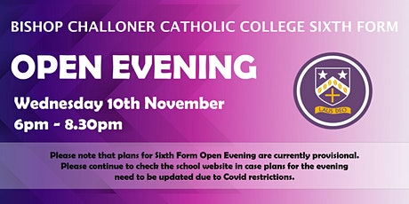 Bishop Challoner Sixth Form College Open Evening 2021 tickets