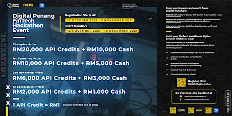 Digital Penang's Fintech Hackathon 2021 tickets