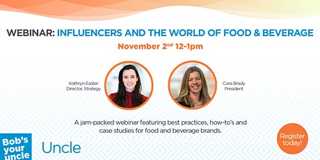 Influencer Marketing in the World of Food & Beverage tickets