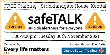 SafeTALK Suicide Alertness tickets
