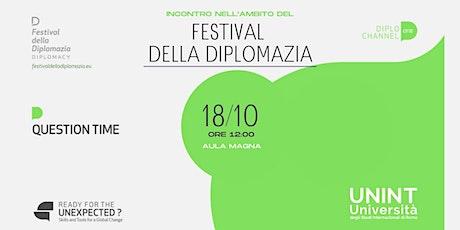 Incontro nell'ambito del Festival della Diplomazia biglietti