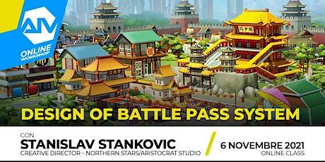 ONLINE WORKSHOP - Design of Battle Pass System biglietti