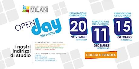 Open Day 2021/22 - Evento in Streaming biglietti