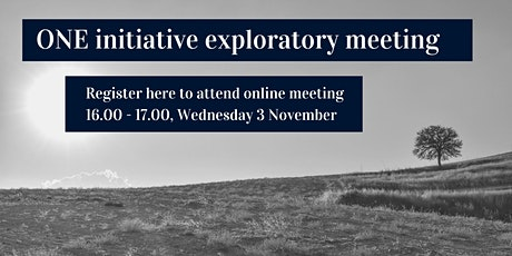 ONE Social Sciences & Humanities Exploratory Meeting tickets