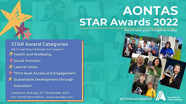 AONTAS STAR Awards 2022 - Information Webinar image