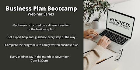 Business Plan Bootcamp ( 4 part webinar series) tickets