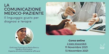 Comunicazione medico-paziente: il linguaggio giusto per diagnosi e terapie biglietti