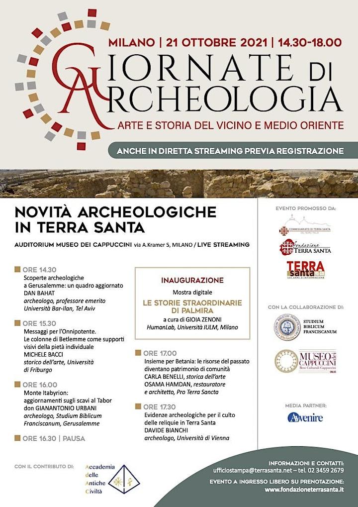 Immagine Novità archeologiche in Terra Santa