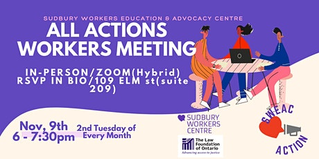 All Action Workers Monthly Meeting tickets