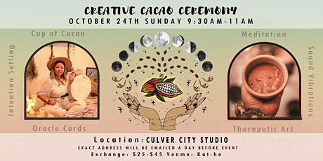 Full Moon Creative Cacao Ceremony - Painting - Sound Bath tickets