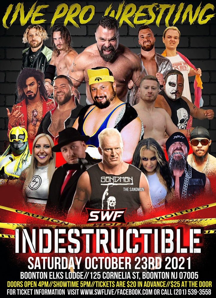 SWF Wrestling Tickets available at door image