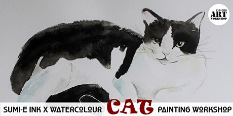 Sumi-e X Watercolour Japanese Cat Painting tickets