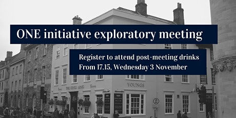 ONE Exploratory Meeting: Post-Meeting Drinks at the Kings Arms tickets