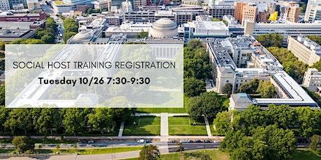 Social Host Training 10/26 tickets
