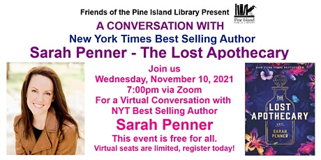 A Conversation with  - Sarah Penner - The Lost Apothecary tickets