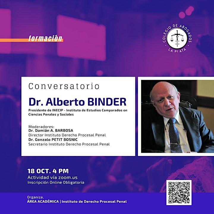 Imagen de Conversatorio con el Dr. Alberto Binder