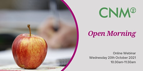 CNM Online Open Morning - Wednesday 20th October 2021 tickets