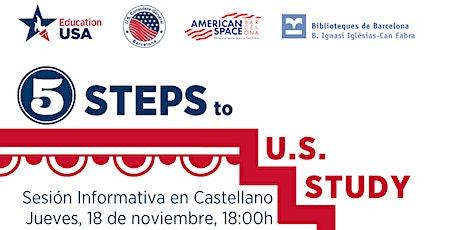 Los 5 pasos a seguir para estudiar en EE.UU.- Sesión Informativa entradas